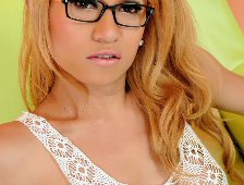 Blonde Ladyboy Glasses