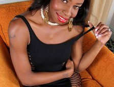 Sweet Black Booty Of TS Amber Coxx