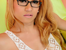 Ladyboy Inc Glasses Big cock Ladyboy