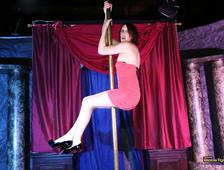 Addy Rose Bobs Tgirls Stripper Pole