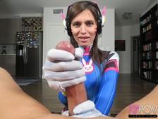 Korra Del Rio D.VA Cosplay Transsexual Sex