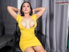 Curvy Bangkok Ladyboy Yellow Dress Strip