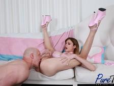 Aphrodite Adams Pink Heels Barebackin