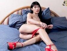 Red Lingerie Ladyboy Cutie Ida