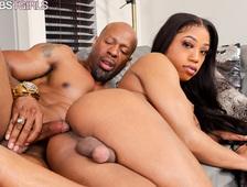 Malykah Hot Black Tgirl Hardcore Sex