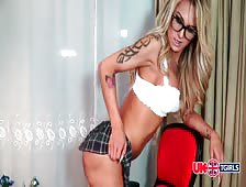 Mia Maffia Hot School Shemale Tease