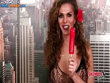 Jenna Tales Lollipop Shemale Sucking