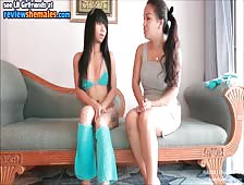 Ladyboy Amy Interviews Horny Nadia