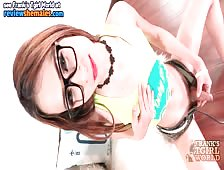 Cute Black Rimmed Glasses Ladyboy
