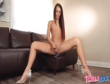 Khloe Kay Strip Down Cock Play Transsexual Superstar Movie