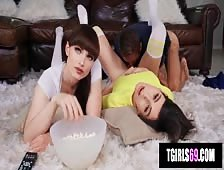 Korra Del Rio With Natalie Mars Hot Movie Night Barebacking
