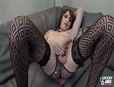 Kira Masgrov Stroking Thick Tgirl Cock