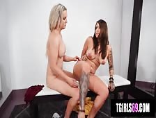 Kayleigh Coxx Dressing Room Tgirl On Girl Sex