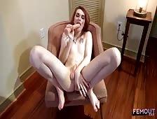Aimee Fawx Sexy Tgirl Dildo Play