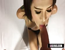 Bangkok Ladyboy Madonna Loves Big Cock