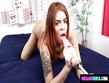 Aricia Castelly Sexy Brazilian Tgirl Dildo Play