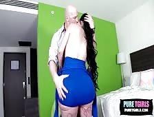 Amber Spanic Mexican Big Booty Tgirl Bareback