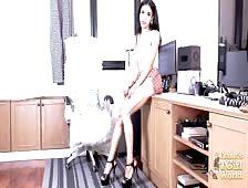 Bangkok Toned Ladyboy May Strokes Her cock