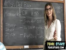 Hot For Teacher Korra Del Rio Tgirl Hardcore