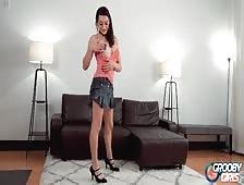 Bambi Bliss Short Skirt Strip Video