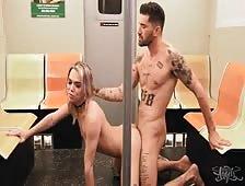 Emma Rose Subway Tgirl Hardcore