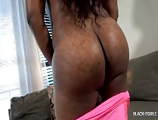 Tiyara Tight Pink Dress Strip Ebony Tgirl