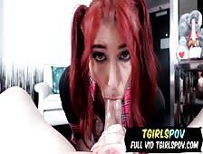 Mya Nine School Cosplay Tgirl POV