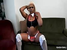 Petite Goddess School Cosplay Black Tgirl Beauty